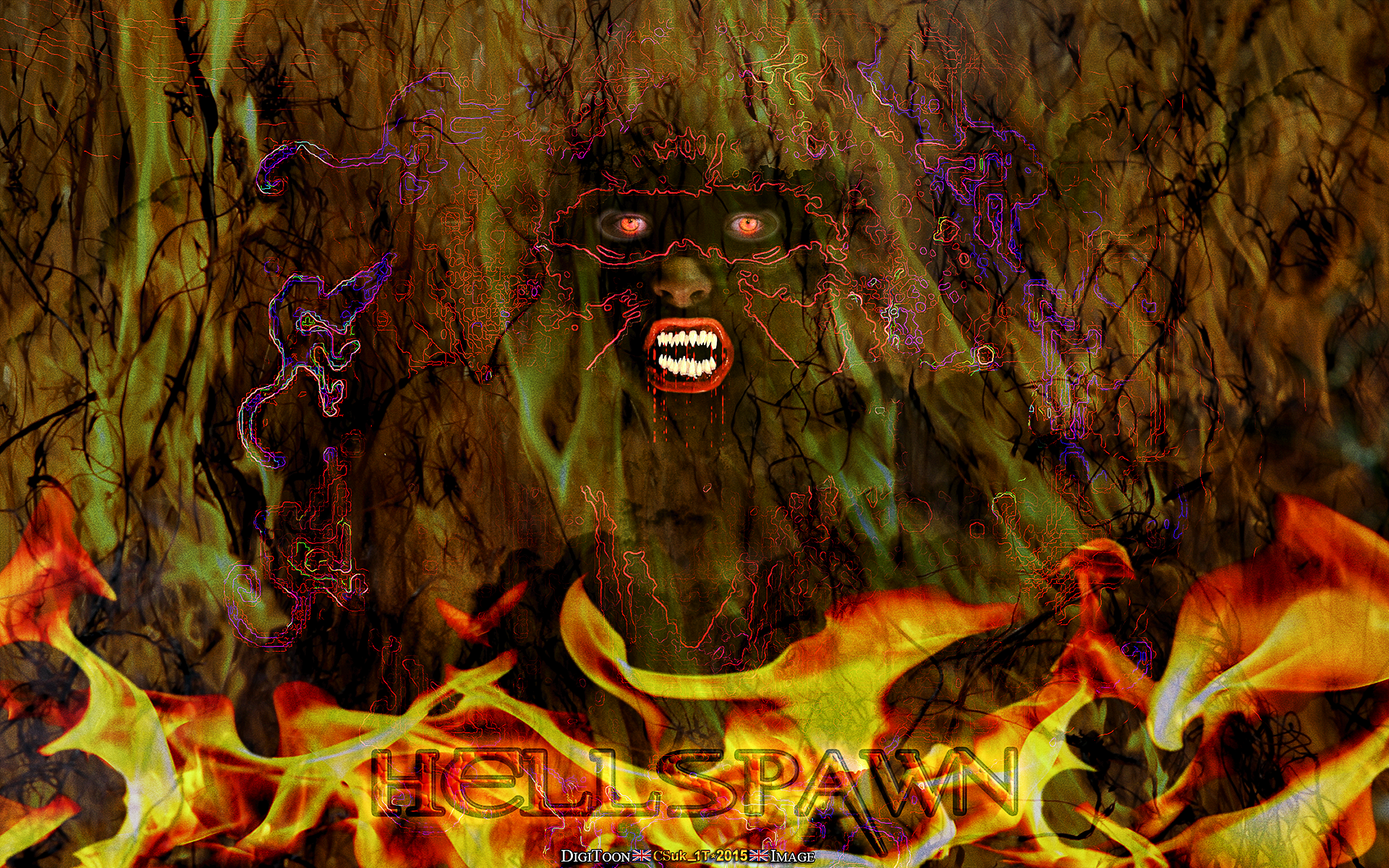HELLSPAWN HORROR ABSTRACT By CSuk 1T