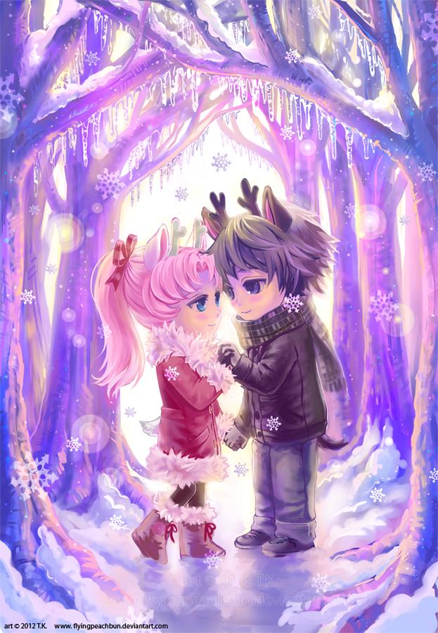 Deer Love by flyingpeachbun