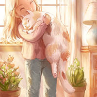 Hug a Fat Cat by flyingpeachbun