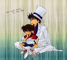 Conan and Kid - Thinking by Kyu-Dan