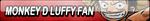 Monkey D Luffy Fan Button by Kyu-Dan