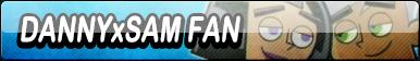 Danny x Sam Fan Button (Request) by Kyuubi-DemonFox