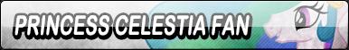 Princess Celestia Fan Button
