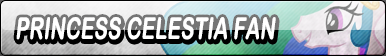 Princess Celestia Fan Button by Kyuubi-DemonFox