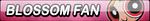 Blossom Fan Button (Request) by Kyu-Dan