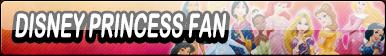 Disney Princess Fan Button