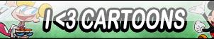I Love Cartoons Button by Kyu-Dan