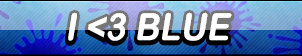 I Love Blue Button by Kyu-Dan