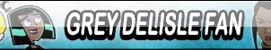 Grey DeLisle Fan Button by Kyu-Dan