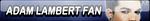 Adam Lambert Fan Button by Kyu-Dan