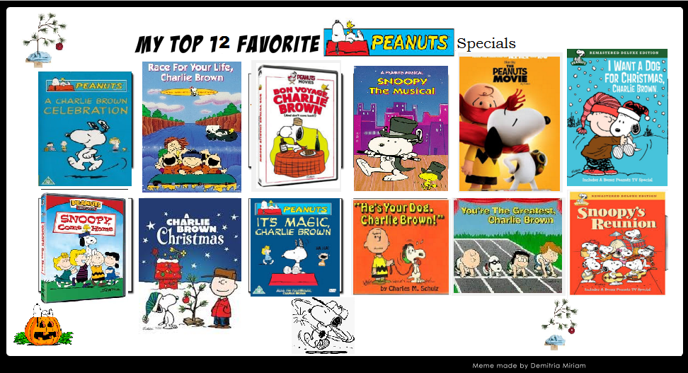 My Top 12 Favorite Peanuts Specials By Steeleaddict ...