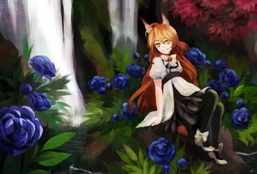 Blue petals by tshuki