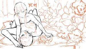 [YCH SET PRICE] Bed in a forest [CLOSED] by tshuki