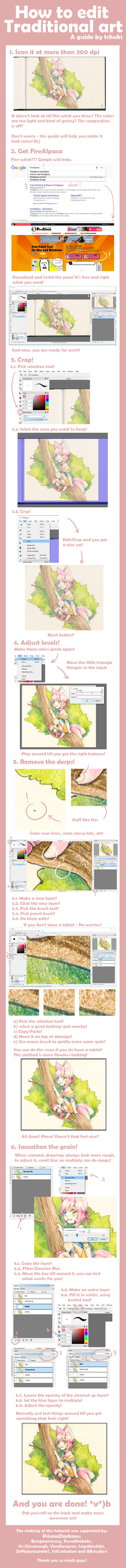 [Tutorial] How to edit traditional art! by tshuki
