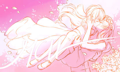 [YCH Auction] Sakura Kiss [CLOSED] by tshuki