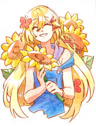 [Commission] Sunflower by tshuki