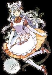 [Commission] Mousie maid by tshuki