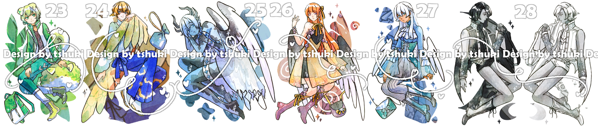 [Adoptables, Set price] June 20s batch [1/6 OPEN]