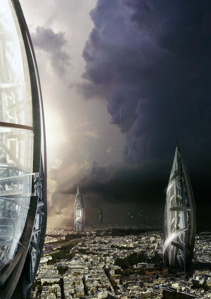 Futuristic cityscape by everlite