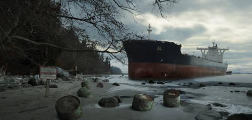 Oil Tanker Wreck Beach 01 by everlite