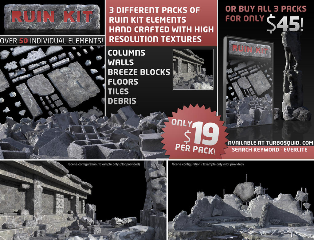 Ruin Kit Elements by everlite
