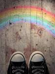 chucks and a rainbow
