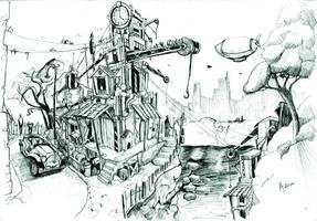 Fantasy landscape by Nrzman