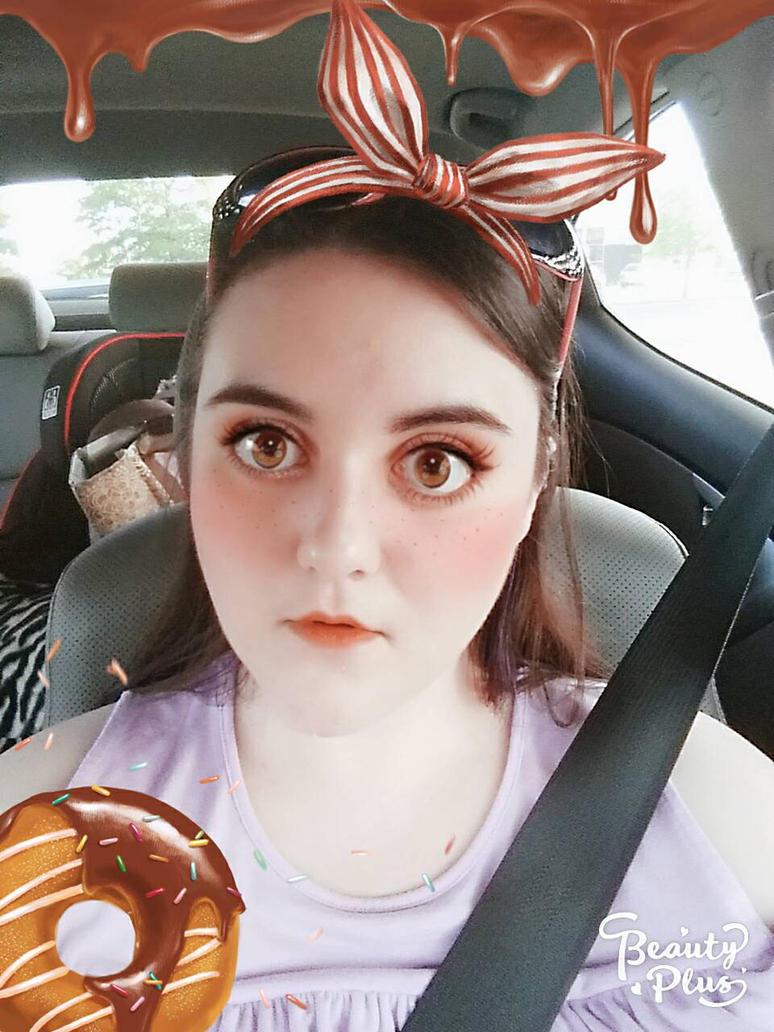 Chocolate Donut Girl by MacaronPretty