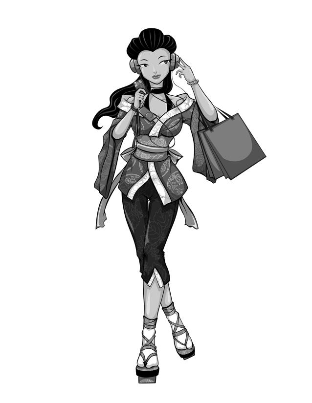 Geisha girl by ylden