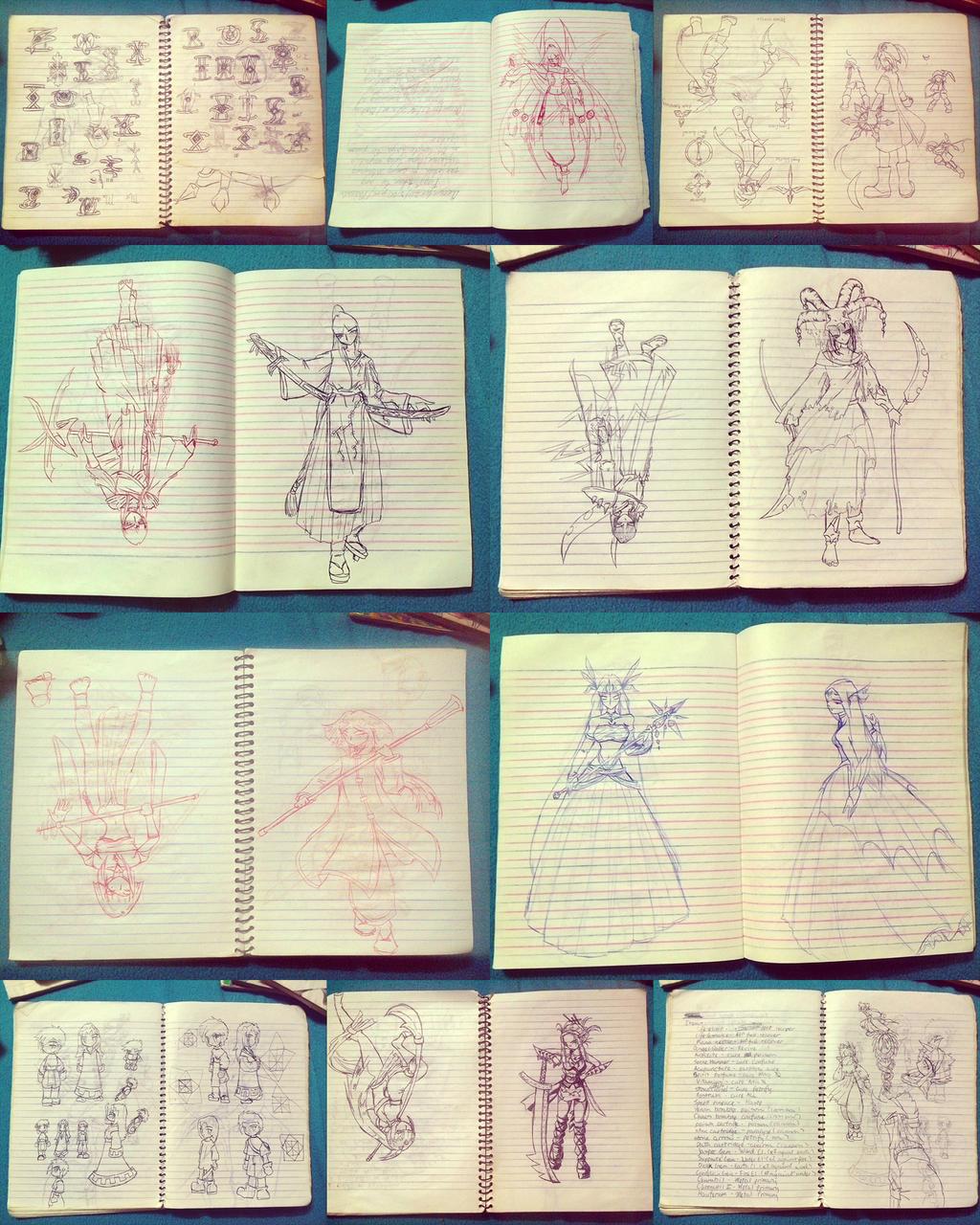 Highschool Notebook Doodles 1 by Ylden on DeviantArt