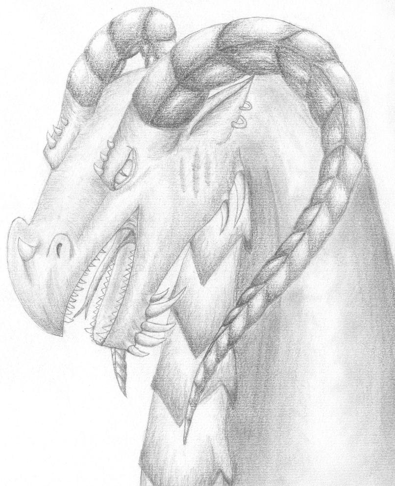 Battle-Scarred Dragon by CamKitty2 on deviantART