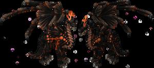 Lava Dragon (made in Spore)