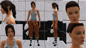 Chell in Sims3 (WIP3)
