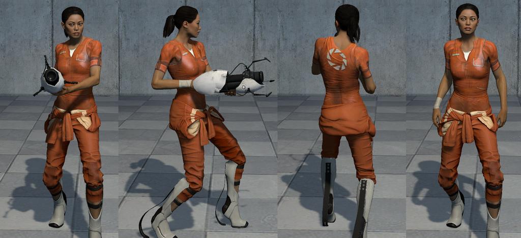 Portal 2 Chell Reskin by CamKitty2.