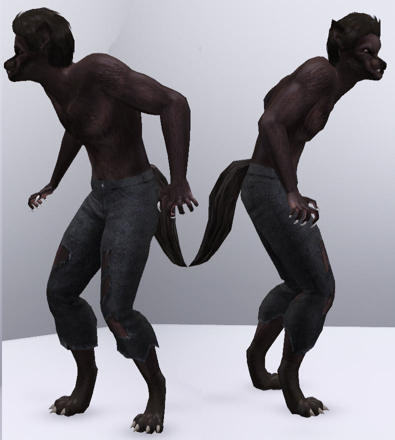 Werewolf (Sims 3) by CamKitty2.
