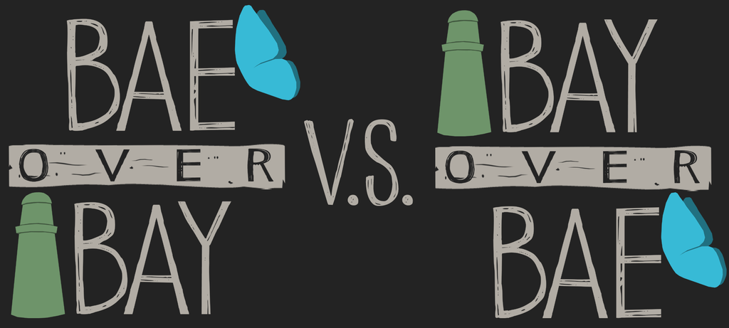 Bae VS Bay (Shirt Design) by CamKitty2 on DeviantArt