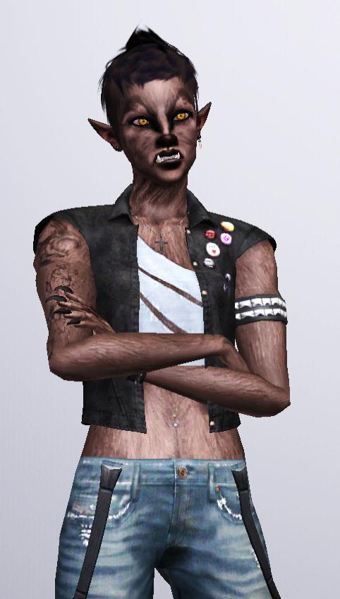 Werewolf Rocker (Sims 3) by CamKitty2