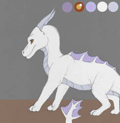 White Dragon Character Concept by CamKitty2