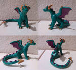 Teal and Purple Dragon by CamKitty2