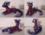 Purple Patchwork Dragon by CamKitty2