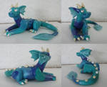 Blue Patchwork Dragon by CamKitty2