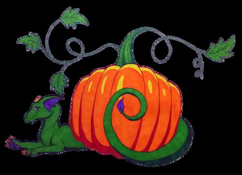 Dragon with Pumpkin