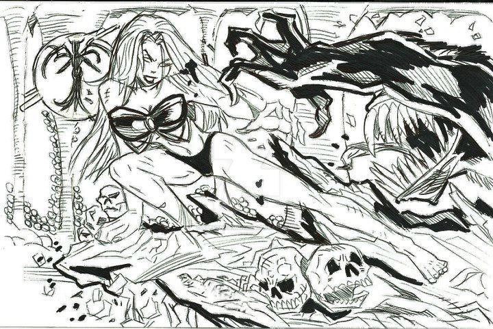 Maiden Hell sketch design by SteveHarmon