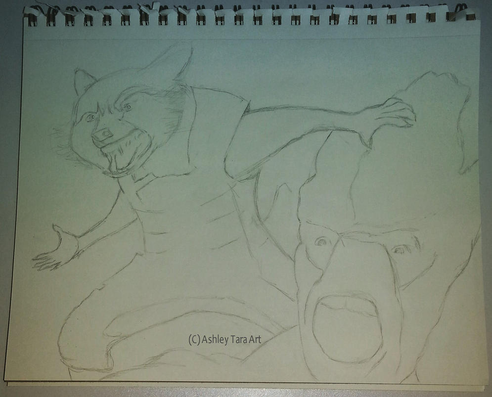 Rocket Raccoon and Groot Portrait Sketch by Ashley-Tara