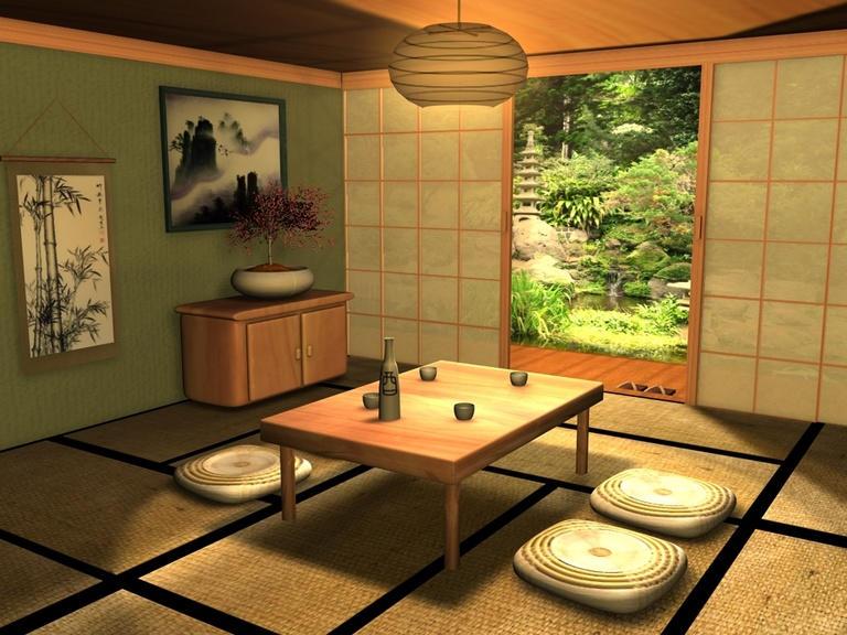 japanese living room modern house. Black Bedroom Furniture Sets. Home Design Ideas
