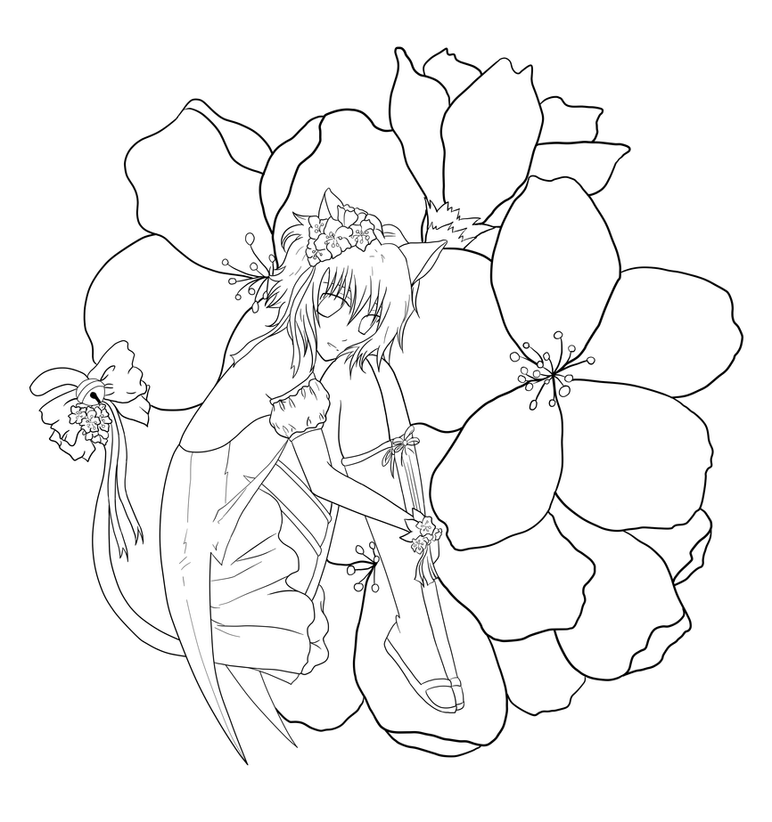 Tokyo mew mew lineart by rosefeathers on deviantart for Mew coloring pages