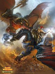 Lord-Celestan-vs-Bloodthirster by anna-lakisova