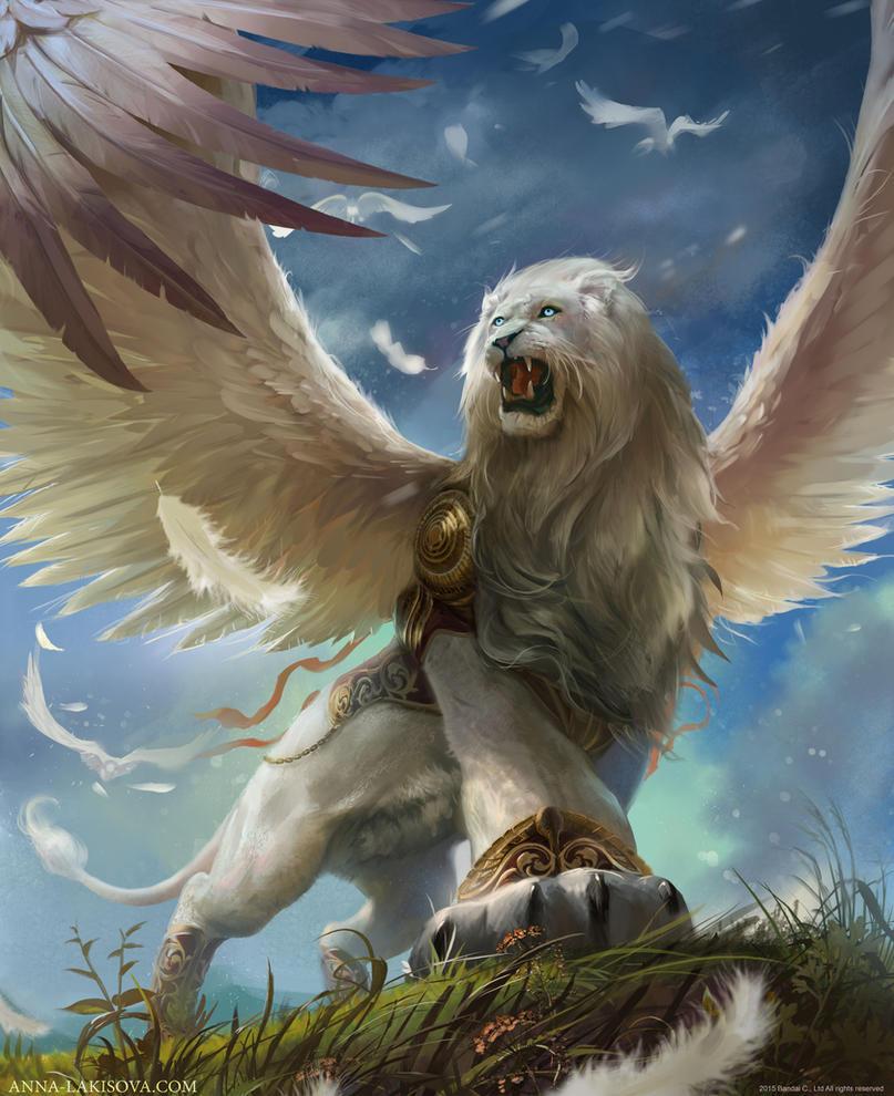 White Winged Lion by anna-lakisova