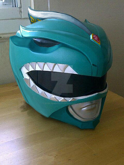 MMPR Green Ranger: Movie Helmet Concept by effektdmentality