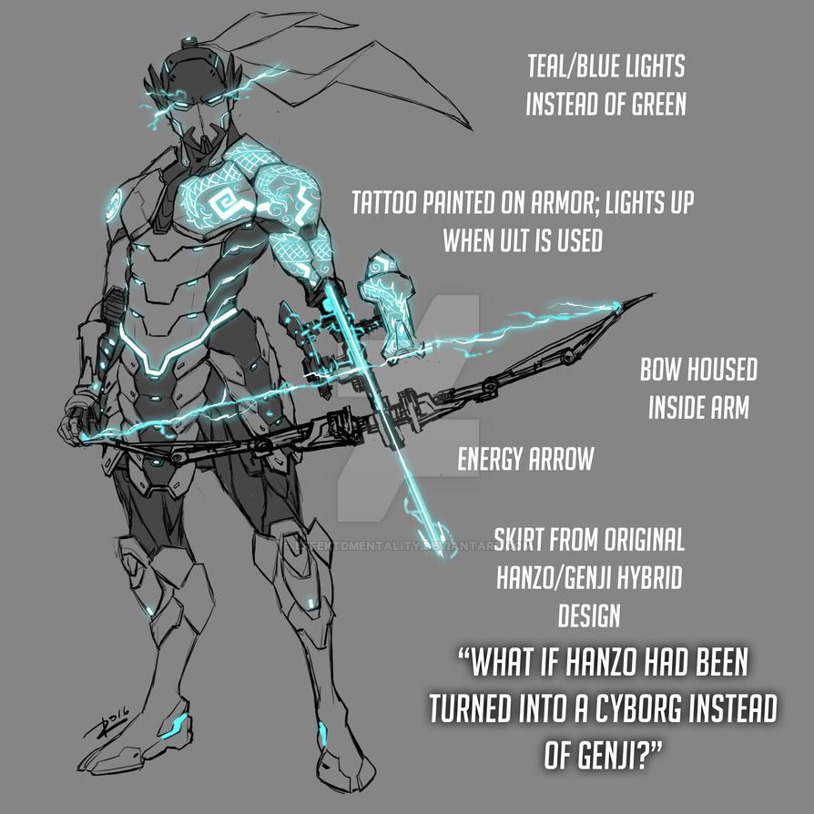 Overwatch Fan Skin: Cyborg Hanzo by effektdmentality